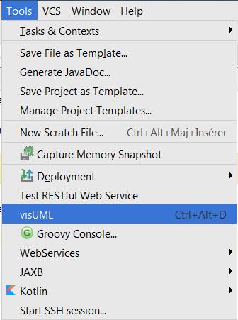 Visuml documentation visuml plugin menu toolbar ccuart Gallery