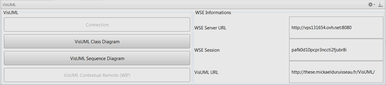 Visuml documentation visuml plugin information panel visuml plugin information panel ccuart